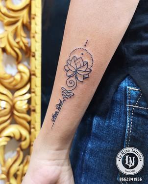 Lotus tattoo with mom dad | La Nina Tattoos | Best tattoo studio in ahmedabad| Best tattoo artist | Gujarat | India | tattoo | cute
