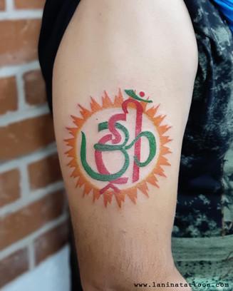Color Religious Tattoo | La Nina Tattoos | Best tattoo studio in ahmedabad| Best tattoo artist | Gujarat | India