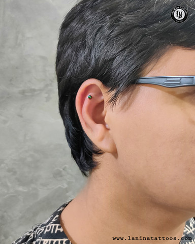 Rook Piercing| Ear Piercing | La Nina Tattoos | Best tattoo studio in ahmedabad| Best tattoo artist | Gujarat | India
