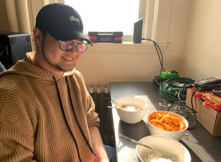 Charlie Cooks His Favorite Food