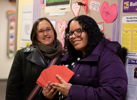 Emerson Staff Union Hosts Valentine's Meet and Greet