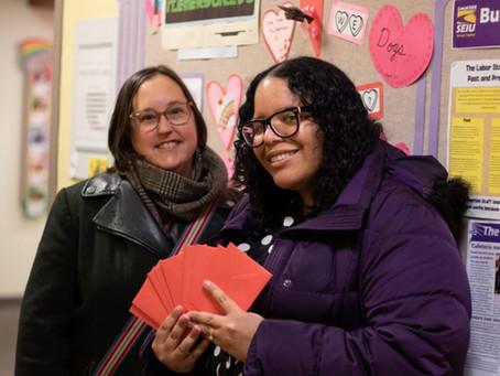 Emerson Staff Union Hosts Valentine's Meet and Greet