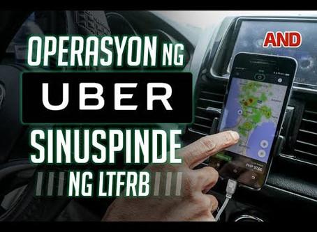 ABS-CBN News: Operasyon ng Uber Sinuspinde ng LTFRB