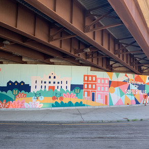 New colorful mural welcomes people to Somerville