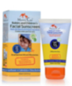 Natural Facial Sunscreen Safe for use on infants 0m and up.