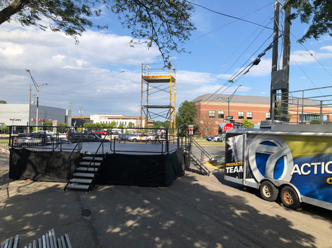 Woodward Dream Cruise VIP Riser & Stage Rental