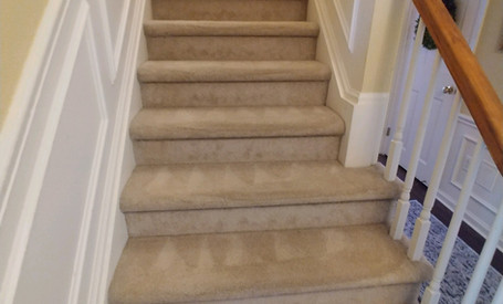 Steam Cleaned Stairs In Commerce Michigan