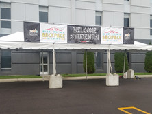 Frame Tent with Banner
