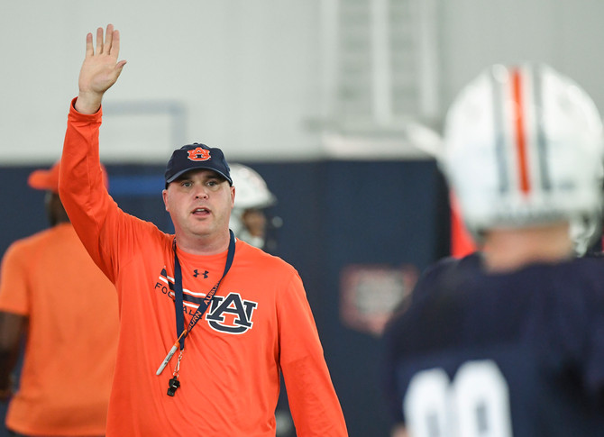 First Year Offensive Coordinator Likes What He Sees Early in Fall Camp