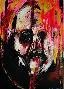 Beast (portrait studio) 30x20cm, mixmedi