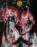 sick world, 50x70, mix media on Canvas 2