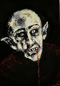 Nosferatu,35x45cm, acrylic and oil on pa