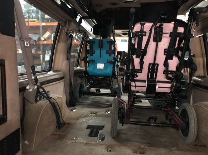 Wheelchairs in for Measurements