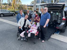 Perez Family Recieving New Modified Van