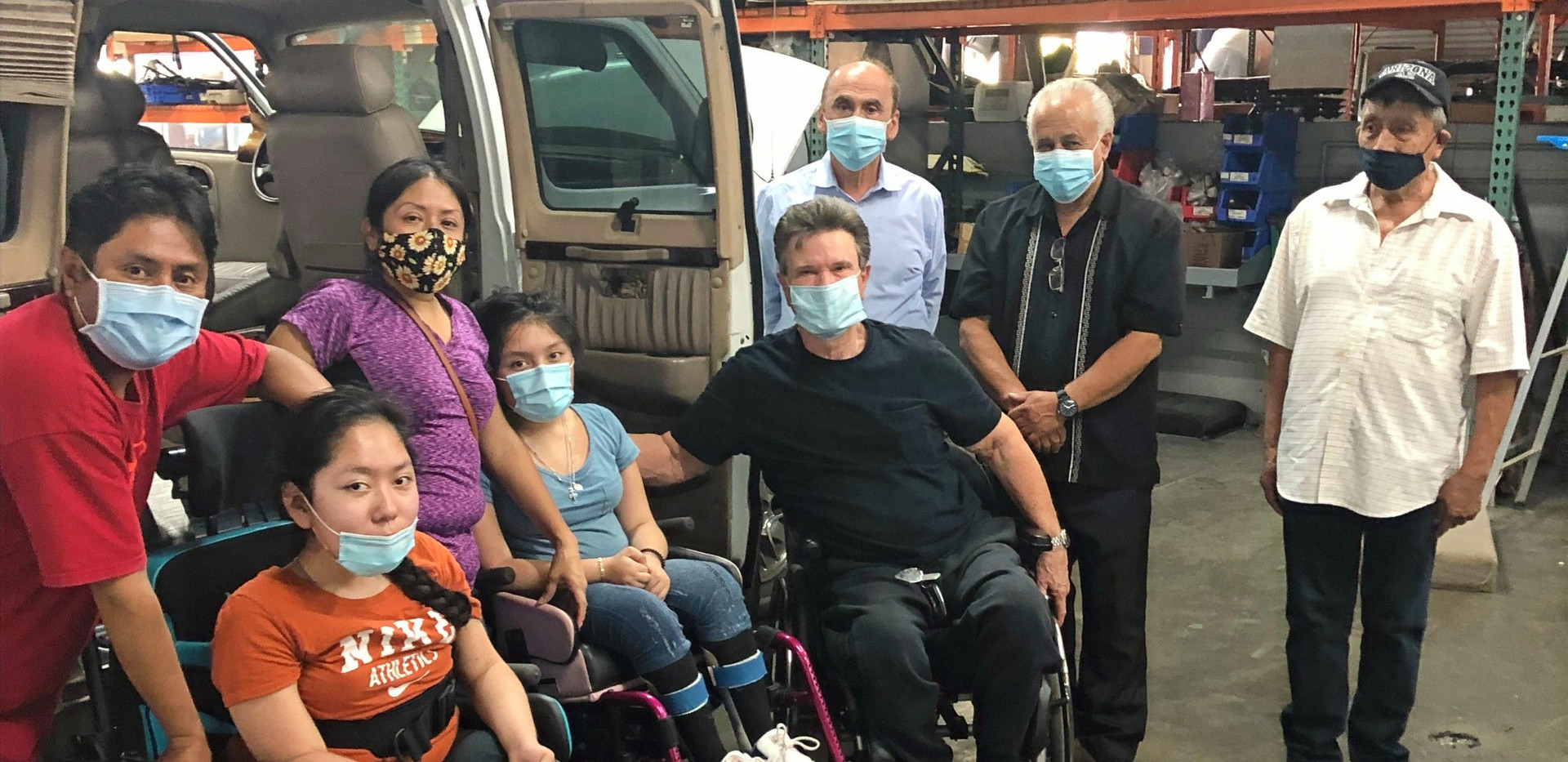 The Santos Family with their New Van