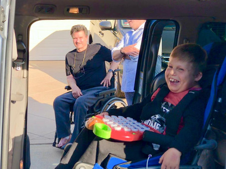 Riley and his family get a new van