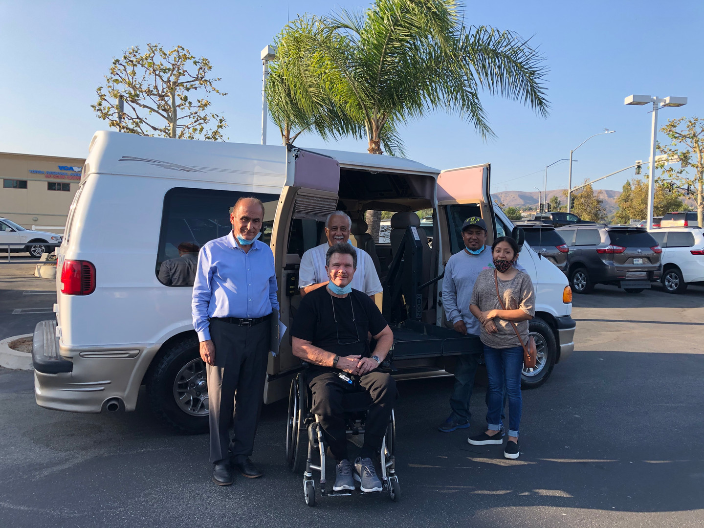 Thanks to AeroMobility for helping to adapt this Van to accomidate 2 Wheelchairs