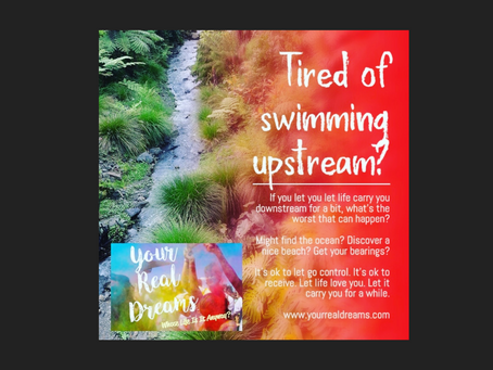 Tired of swimming upstream?