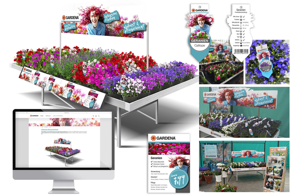 """POS visibility and POS promotion world-wide. New Launch """"The flower assortment"""""""