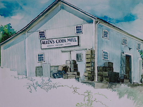Sally Sargent Markey - Allen's Cider Mill - Giclee watercolor