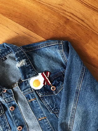 Egg and bacon pins