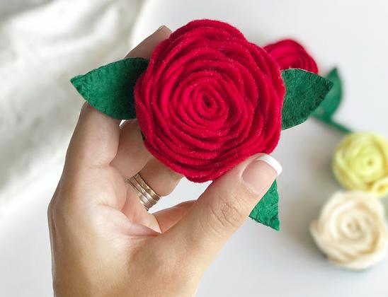 Rose pin large