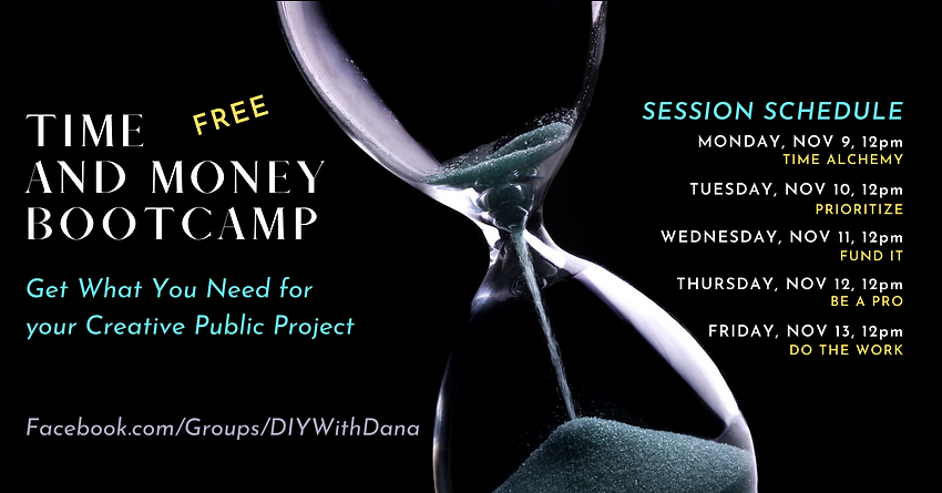 Time & Money Bootcamp Schedule for Opt-I