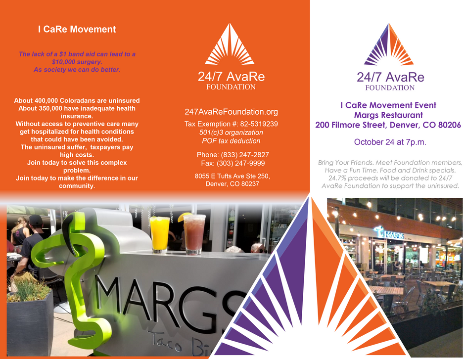 I CaRe Event At Margs October 24th