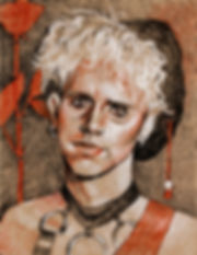 Master and Servant - a crosshatching drawing of Martin L Gore from Depeche Mode by Sofiya Kuzmina