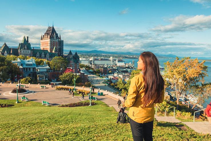Quebec city Canada travel destination. A
