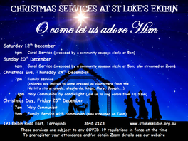 Christmas services at St Luke's 2020