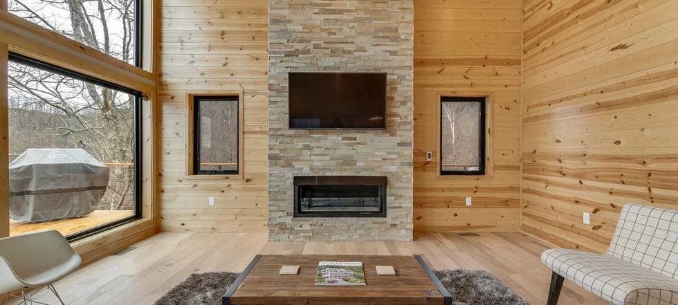 Azalea Creek Falls - fireplace