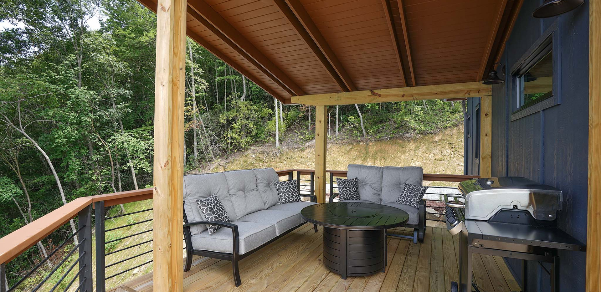 Sunset Falls - side covered porch
