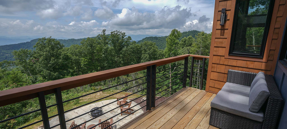 Sunset Falls - master bedroom deck view