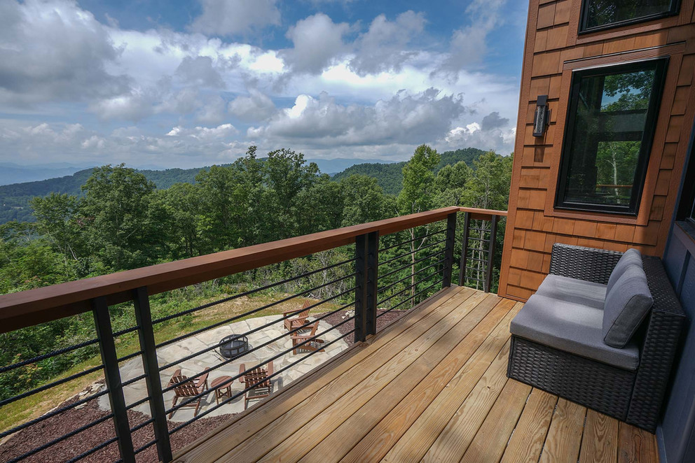 Sunset Falls - master bedroom deck view.