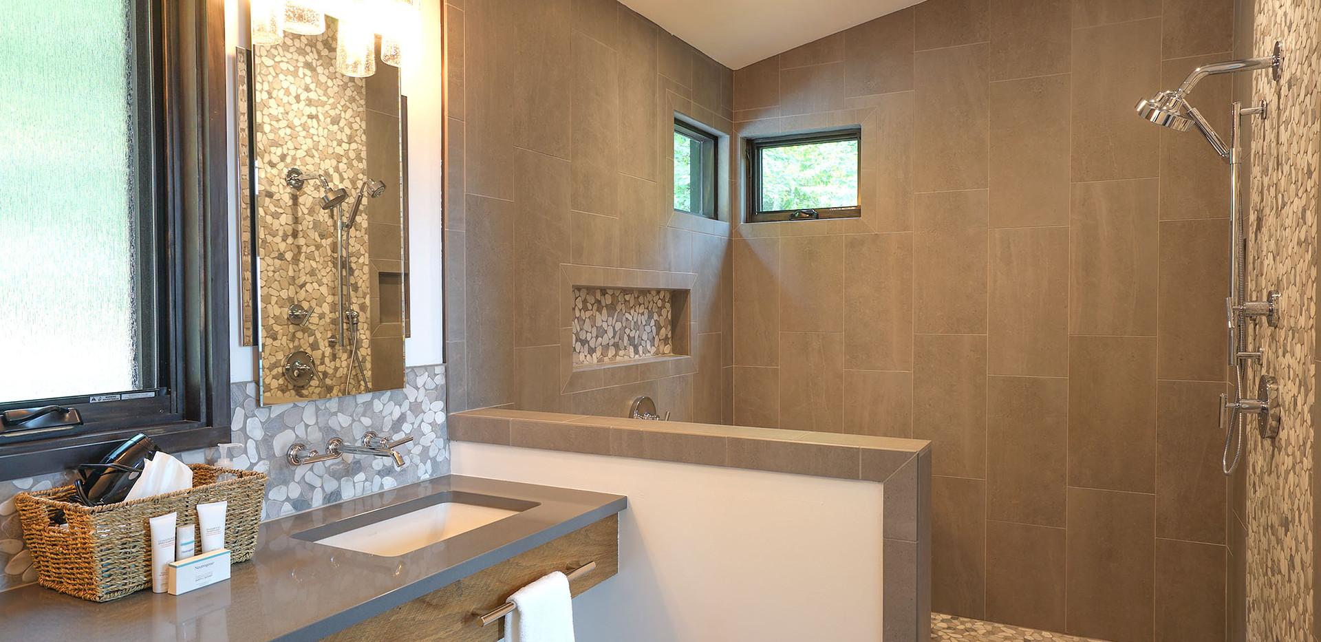 Sunset Falls - master bath shower