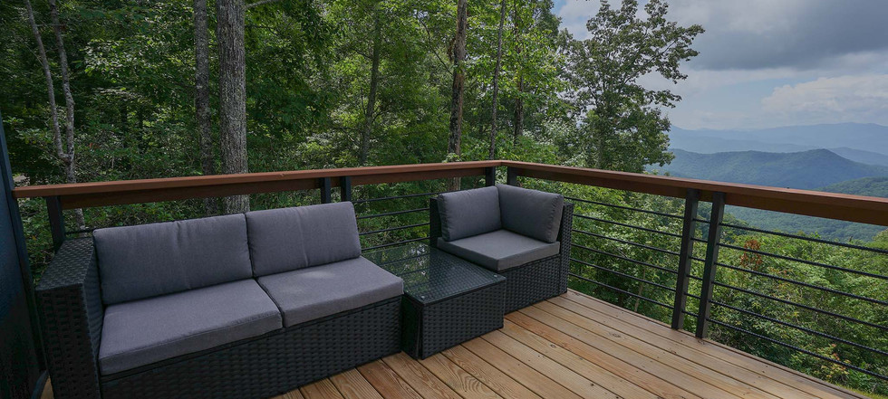 Sunset Falls - master bedroom deck