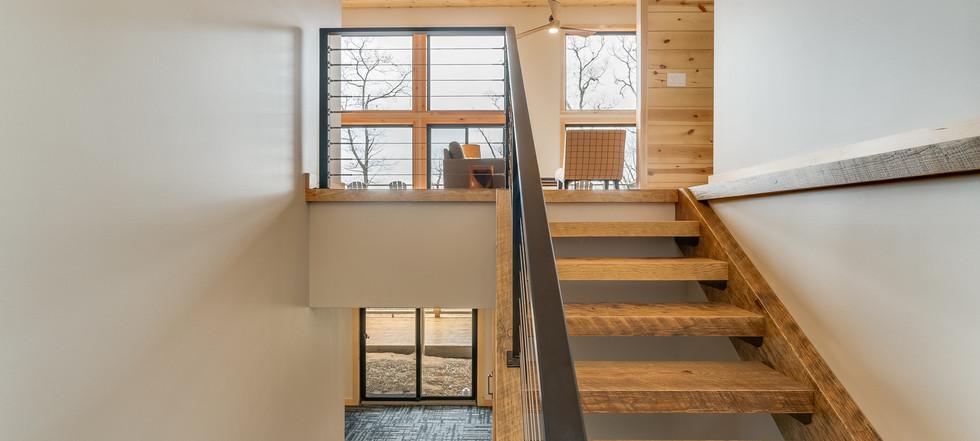 Azalea Creek Falls - open staircase
