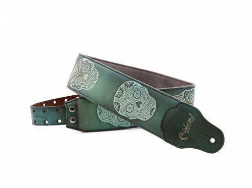 RightOn! Leathercraft Leather Strap Sugar Green