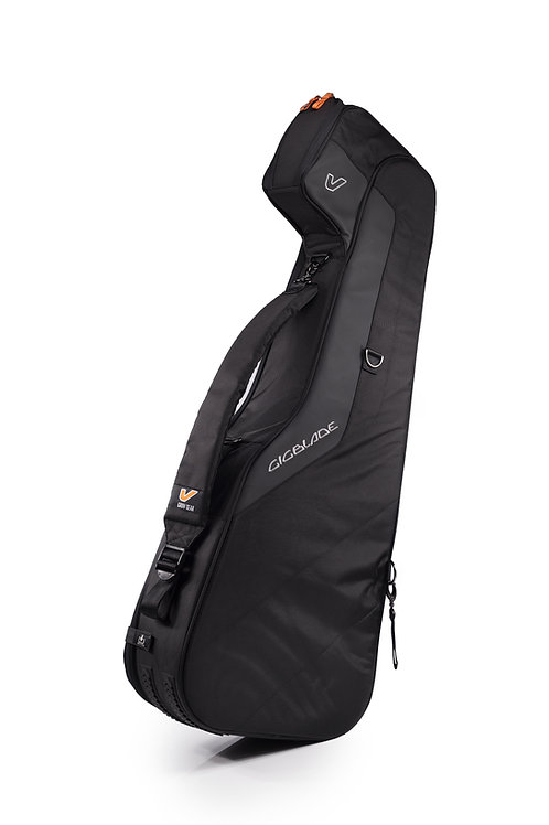 Gruv Gear GigBlade2 Acoustic Guitar Gig Bag in Black Front Angle