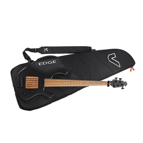 Gruv Gear GigBlade Edge Bass Guitar Gig Bag Black Front with Bas