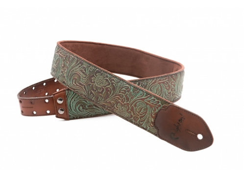 RightOn! Leathercraft Leather Strap Blackguard Teal