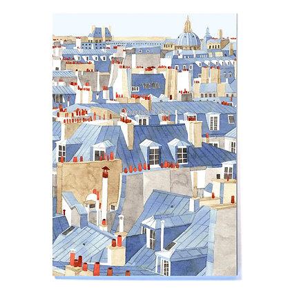 Carnet A5 - Toits de Paris