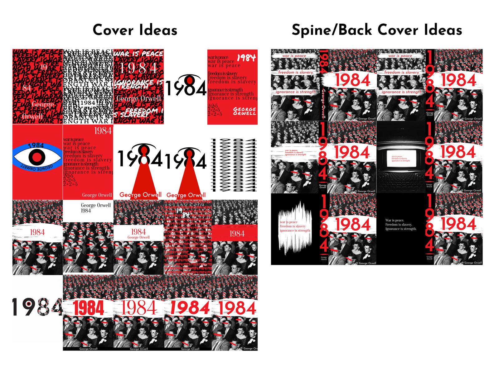Sabsommerportfolio 1984 Book Cover Redesign