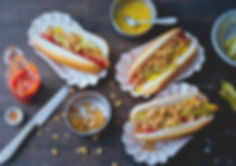 Mars Algen vegane Algen Wiener im Hot-Dog