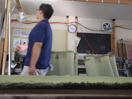 八王子の畳屋 畳の作業風景2020.8.12.