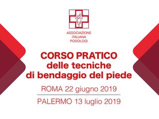 CORSO PRATICO DELLE TECNICHE DI BENDAGGIO DEL PIEDE - PALERMO 13 luglio 2019