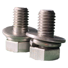 Double washer on bolt