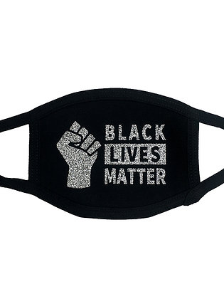 Black Lives Matter Face Mask Black
