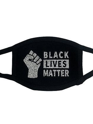 Black Lives Matter Face Mask Black